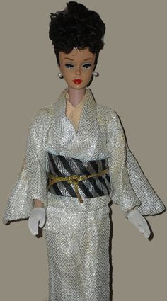Vintage Barbie in Rare Japanese Market Kimono