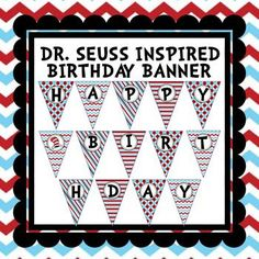 Celebrate Dr. Seuss' Birthday with this fun, bright turquoise and red banner. It will be a great addition to your classroom party. You will also receive blank pennant banner as well!IMPORTANT!!!TpT gives credits for every $ you spend ONLY after you provide feedback to the seller.
