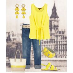 Wearing Lemon in London, created by maggiesuedesigns on Polyvore