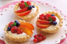 Berries And Peach Fruit Tartlets