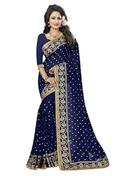 f042a918a5445 Diwali Offers on Ethnic Wear - Buy Blue Colored Georgette Saree online in  Singapore. Get best Deepavali festival offers on across Indian branded  Sarees