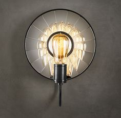 FILAMENT SCONCE, c. 1910, INTERIOR LIGHT. FILAMENT BULB INCLUDED. $259