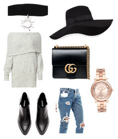 """Untitled #29"" by princess-zamiyah on Polyvore featuring Joie, ASOS, Gucci, San Diego Hat Co. and Michael Kors"