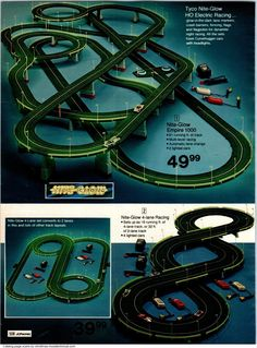 Slot Car Racing, Slot Car Tracks, Christmas Catalogs, Christmas Books, Retro Toys, Vintage Toys, Childhood Toys, Childhood Memories, Tyco Slot Cars