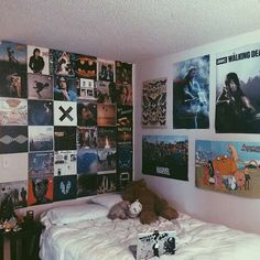 Record wall collage