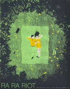 Ra Ra Riot Screenprinted Gig Poster.