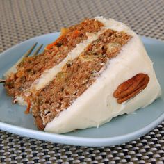 This super-moist cake includes pineapple, raisins and pecans plus a tasty cream cheese frosting.