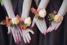 Anna's wrist corsages