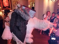christmas themed entertainment for one hour of christmas for this Taxidermy wedding - Festival themed wedding - Oxfordshire