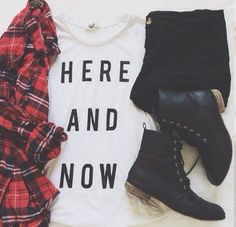 January 30❤️Shirt: Forever 21❤Flannel: Pacsun❤️Black Jeans: Old Navy❤️Combat Boots: teenshoes.com❤️