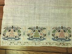 Kashmiri Shawls, Embroidered Towels, Light Beige, French Antiques, 19th Century, Embroidery, Vintage, Etsy, Needlepoint