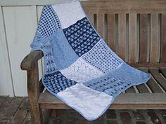 Knit Sampler Afghan Throw Ravelry pattern FREE