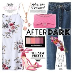 """""""After Dark: Party Outfits"""" by vanjazivadinovic ❤ liked on Polyvore featuring Chanel, Schutz, Maybelline, Rika, Accessorize, 1928, LE VIAN, polyvoreeditorial, zaful and SNEAKERSANDDRESSES"""