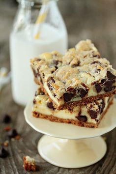 Cookie dough cheesecake bars.