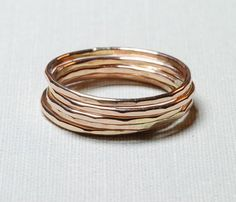 Golden Stacking Ring
