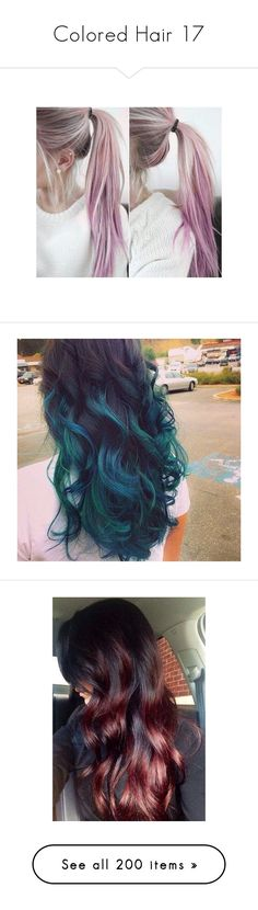 """""""Colored Hair 17"""" by meranda-joi ❤ liked on Polyvore featuring hair, hair styles, hairstyles, beauty products, haircare, hair styling tools, backgrounds, wigs, curly hair care and galaxy"""