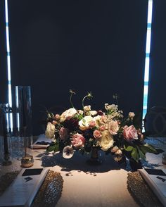 Lucious florals at yesterday's @newseum wedding in DC - @charlottejarrettevents brought in the most gorgeous details through the linens and placesettings to bring a warm glow to the space.  #wildgreenyonder #flowers #centerpiece #dcwedding #dcflorist