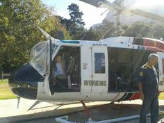 Fire fighting helicopter in  Newlands Forest Cape Town,South Africa.Remembering a brave Fire figher.Thankyou Bees Marais.2015