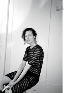 Shalom Harlow is Carefree for Cass Bird in Oyster #99