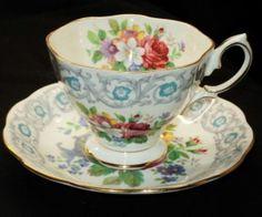 ROYAL ALBERT ENGLAND FRAGRANCE ROSE BOUQUET TEA CUP AND SAUCER