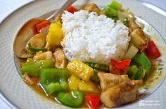 Hähnchen Chinesisch Süß-Sauer - Madame Cuisine