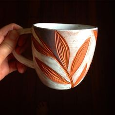 Terracotta hand carved cup by cobaltandkin.com