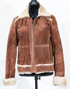 Wilson leather women suede jacket with faux fur brown size M/Medium #WilsonsLeather #BasicJacket