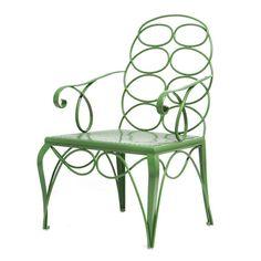 Buy Steel Frances Elkins Chair - Outdoor - Furniture - Dering Hall
