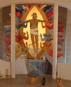 contemporary christian art | ... de Meythet church, artist Arcabas, Bible Art:Resurrection of Christ