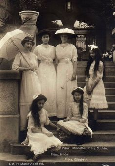 Luxembourg Princesses. Mids 1910s.
