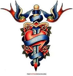 Traditional Old School Tattoos  Gypsy Anchor Ship Pin Up And