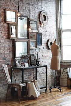 brick wall, love everything about this space!
