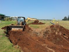 Excavation in progress Swimming Pools, Monster Trucks, Addiction, Country Roads, Construction, River, Swiming Pool, Building, Pools