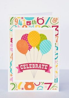 Celebrate birthday card by Leanne Allinson featuring Jillibean Soup Birthday Bisque