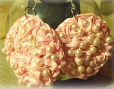 How to make Earrings - Crochet Ribbon, Wire And Beads - DIY Craft Project from Craftbits.com