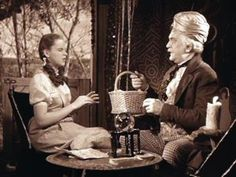 Dorothy and Professor Marvel, i.e., the Wizard of Oz.