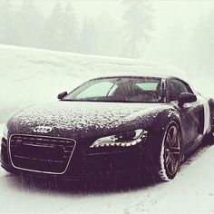 this is how all our cars looked this morning! #snowwy #audi