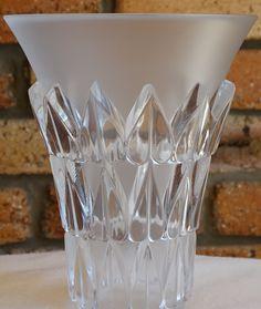 Lalique Art Deco Crystal Vase