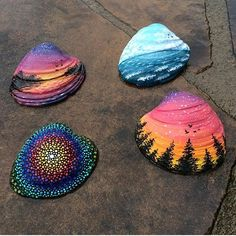 Painting On Sea Shells By @katiebrooksart _ @artshelp