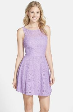 BB+Dakota+'Renley'+Lace+Fit+&+Flare+Dress+(Nordstrom+Exclusive)+available+at+#Nordstrom