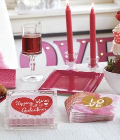 GALENTINE'S COLLECTION by Design Design Valentine Day Gifts, Design Design, Wines, Candles, Bottle, Rose, Collection, Pink, Flask