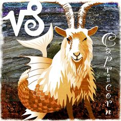 'Capricorn' by Daniel Loveday Canvas Art Prints, Canvas Wall Art, Framed Prints, Capricorn Rising, Vintage T-shirts, Pictogram, Archetypes, Glyphs, Art Boards