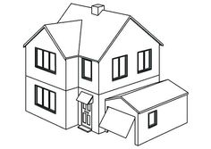 House Coloring Coloring Pages Of Houses House Coloring Pages Small ...