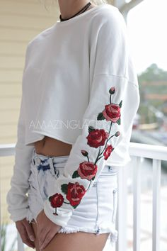 Our Best Selling Rose Applique Shirt - Amazing Lace