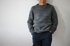 2yrs to 12yrs - DK top-down, pattern in French and English, available late Jan/16 ~  Nordet by Sandrine C.