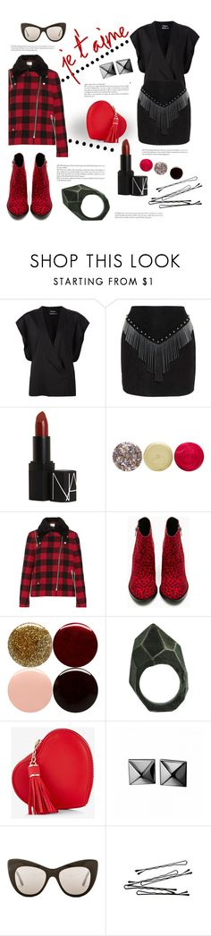 """""""Winter sunnies"""" by agnesfrs ❤ liked on Polyvore featuring Anthony Vaccarello, NARS Cosmetics, JINsoon, Sandro, Shoe Cult, Nails Inc., Lady Grey, Express, Waterford and STELLA McCARTNEY"""