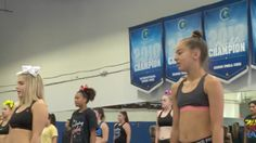 Cheerleaders season 6 episode 1 jenee was there trying out on the left