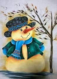 Resultado de imagen para manteles navideños en pintura en tela