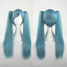 Mayuyu 60cm Blue Double Chip Ponytails Cosplay Costume Wig Hair Free Shipping Black Women Wigs http://www.adepamaket.com/products/mayuyu-60cm-blue-double-chip-ponytails-cosplay-costume-wig-hair-free-shipping/ US $28.80    #adepamaket