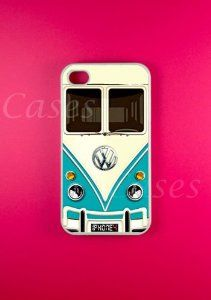 Vw Minibus Teal Iphone 4 Case, Iphone 4s Case - this is totally calling out for @dearhandmadelife nicole & delilah!!